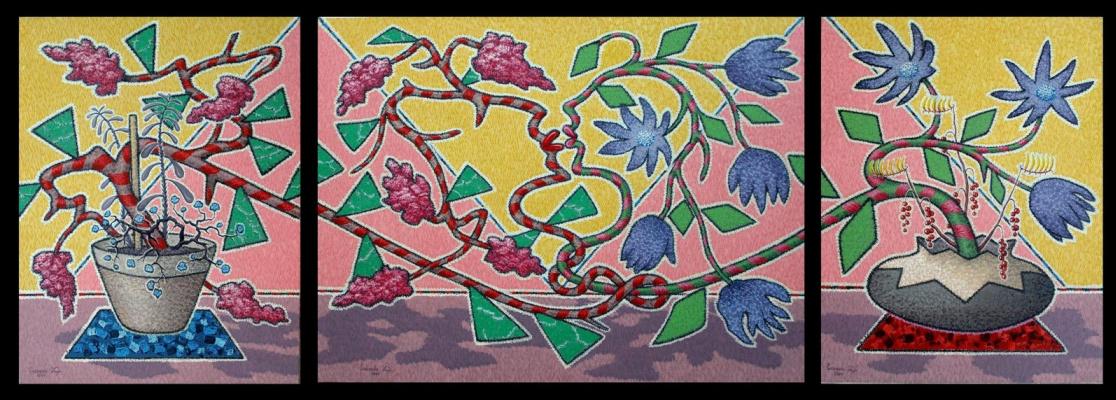 Yuri Vladimirovich Sizonenko. Triptych: Flower kiss.