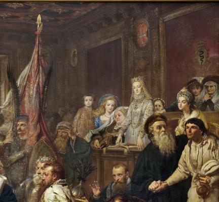 Jan Matejko. Lublin Union. Fragment III