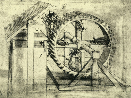 Leonardo da Vinci. Crossbow mechanism