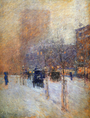 Toward evening, new York, winter
