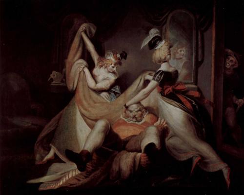 Johann Heinrich Fuessli. Falstaff in a hamper ...
