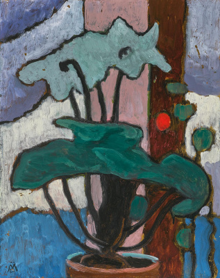 Gabriele Münter. Potted plant