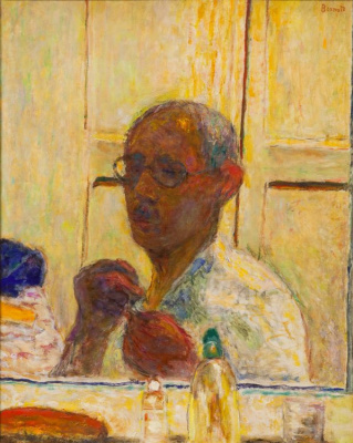 Pierre Bonnard. Self-portrait in the mirror