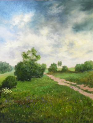 Elena Vyazemskaya. The road to the field. The repetition of the author's picture