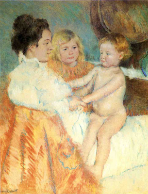 Mary Cassatt. Mother Sara and the baby