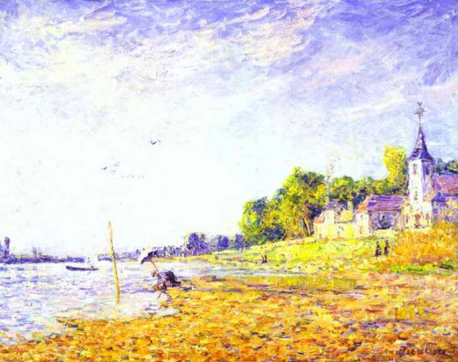 Francis Picabia. The riverbank in Poissy