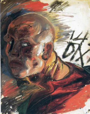 Otto Dix. Head of a man