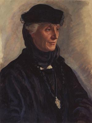 Zinaida Evgenievna Serebryakova. Portrait of S. M. Lukomskaya, nee Dragomirovo
