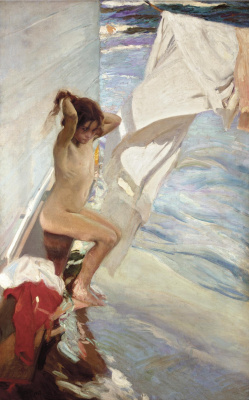 Joaquín Sorolla. Before bathing