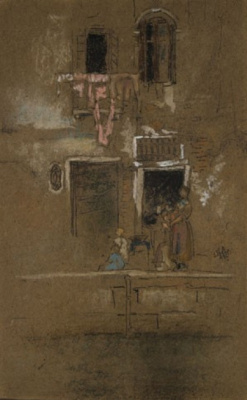 James Abbot McNeill Whistler. Note in pink and brown