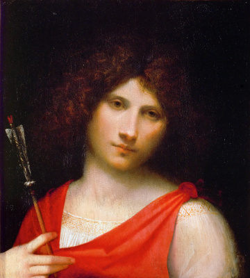 Giorgione. Young man with an arrow