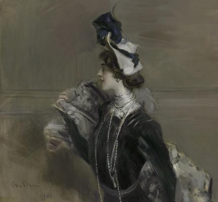 Giovanni Boldini. Portrait of Madame Lina Cavalieri