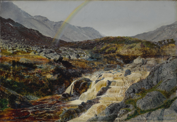 John Atkinson Grimshaw. Rainbow over a mountain stream, Izdeyl
