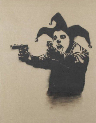 Banksy. Crazy Clown