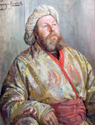 Ivan Goryushkin-Sorokopudov. Portrait of a man in Oriental costume. 1895
