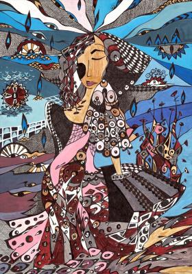"""Irina Shumskaya. Painting """"On the Shore"""" Irina SHUMSKAYA"""