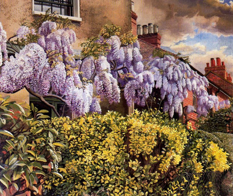 Stanley Spencer. Blooming lilacs