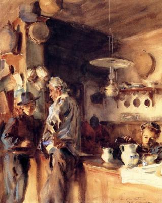 John Singer Sargent. Spanish interior