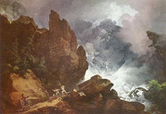 Филипп Якоб  Младший Лутербург. Лавина в Альпах
