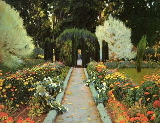 Santiago Rusignol. Garden in Aranjuez
