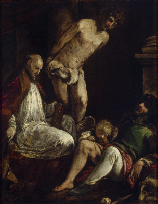 Jacopo da Ponte Bassano. Saints Fabian, Sebastian and Roch