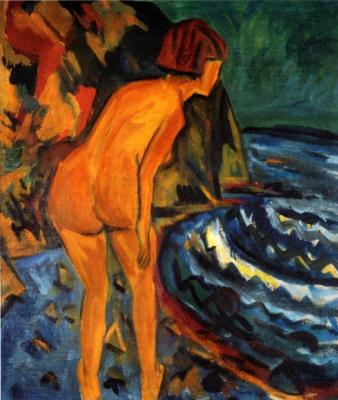 Erich Heckel. Evening swim