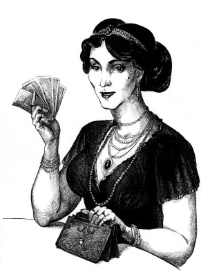 "Polina Raeva. Illustration to Roman V. Pikul ""I have the honor"""