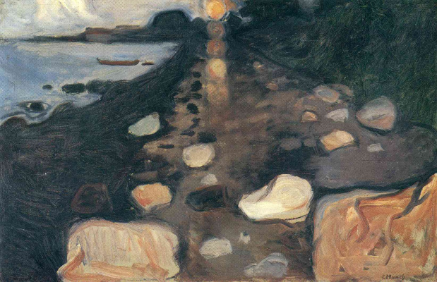 Edvard Munch. Moonlight on the shore