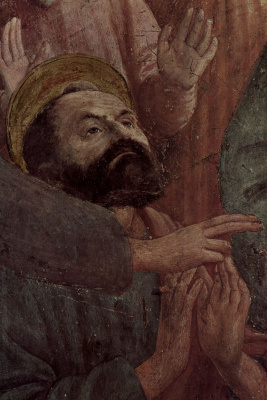 Tommaso Masaccio. The resurrection of the son of Theophilus. Fragment