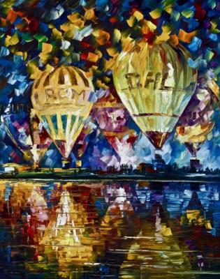Leonid Afremov. Parade balloons
