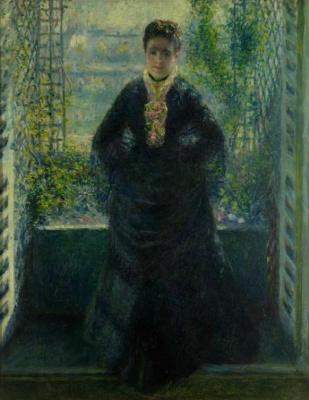 Пьер Огюст Ренуар. Портрет мадам Шоке у окна