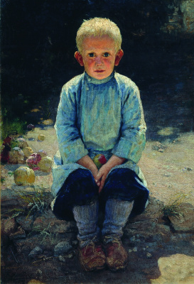 Nikolay Aleksandrovich Yaroshenko. The boy in the garden. 1892