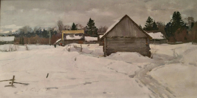 Nikolai Efimovich Timkov. Winter day
