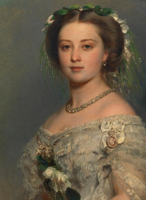 Franz Xaver Winterhalter. Victoria, Princess Royal, later Empress Friedrich of Germany. Fragment