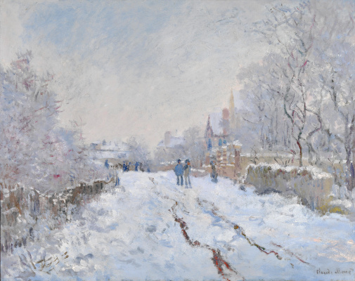 Claude Monet. Snow at Argenteuil