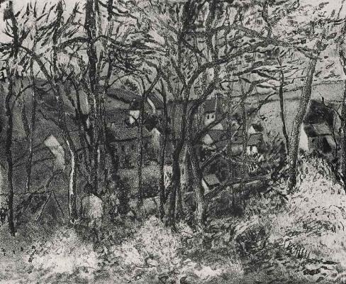 Camille Pissarro. Forest landscape in PONTOISE