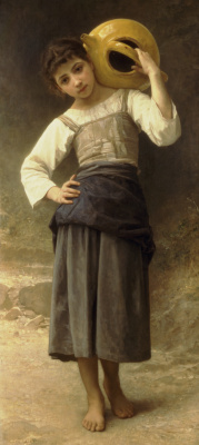 William-Adolphe Bouguereau. The girl is going to the source