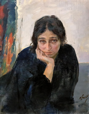 Pavel Petrovich Benkov. Portrait of the artist's wife