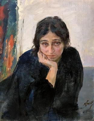 Pavel Petrovich Benkov. Portrait of the artist's wife