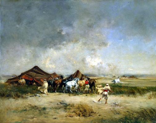 Виктор Пьер Хюгюэ. Арабское кочевье