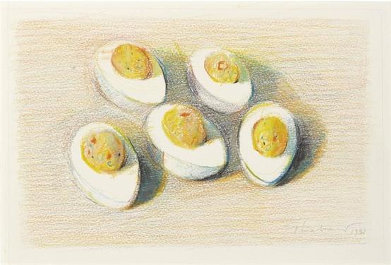 Wayne Thibaut. Five halves of eggs