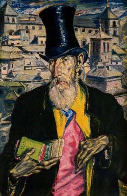 Бенджамин Паленсия. Портрет бородатого мужчины в циллиндре
