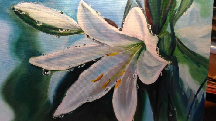 Lilya Fedorova. White lily