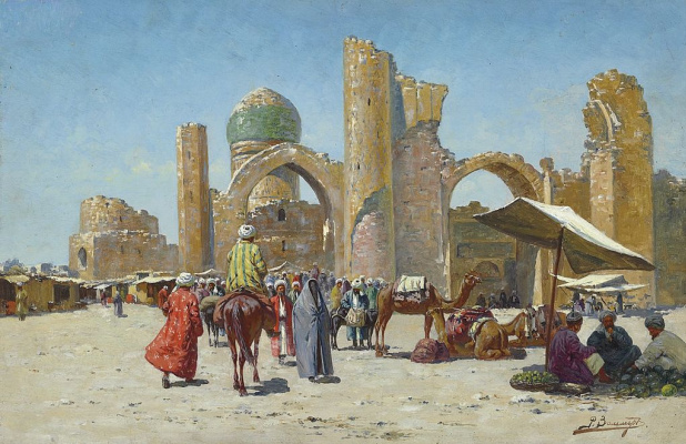 Richard-Karl Karlovich Sommer. Samarkand, Uzbekistan