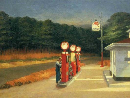 Edward Hopper. Gas station