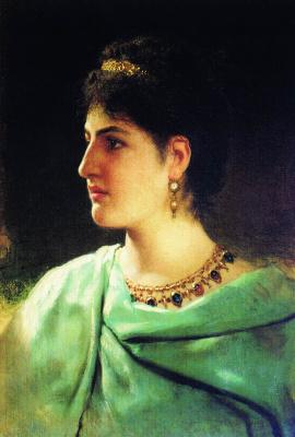 Генрих Ипполитович Семирадский. Портрет римлянки