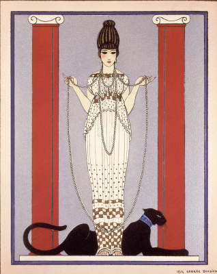 Georges Barbier. Lady with panther