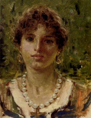 Франческо Паоло Микетти. Портрет девушки