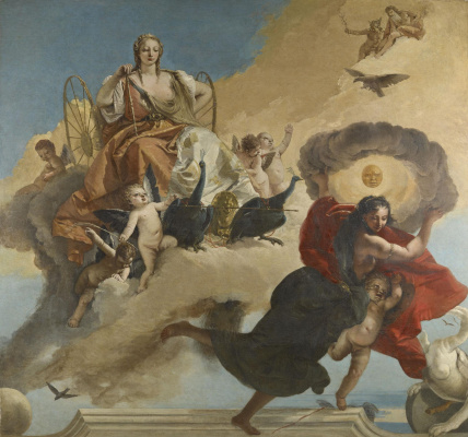 Giovanni Battista Tiepolo. Juno and Luna