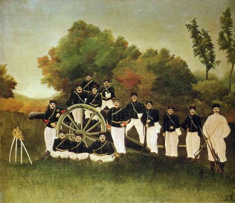 Henri Rousseau. The gunners
